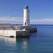 Lighthouse in the port of Cassis Provence Provence Alpes Cote dAzur Southern Stock Photos