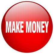 Stock Illustration of make money red round gel isolated push button