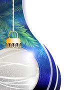 Stock Illustration of Silver ball Christmas tree decoration