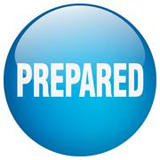 Stock Illustration of prepared blue round gel isolated push button
