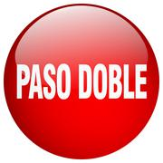 Paso doble red round gel isolated push button Piirros