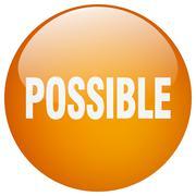 Possible orange round gel isolated push button Stock Illustration