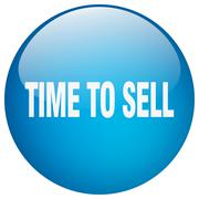 Time to sell blue round gel isolated push button Stock Illustration