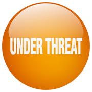 Stock Illustration of under threat orange round gel isolated push button
