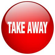 Stock Illustration of take away red round gel isolated push button