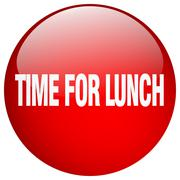 time for lunch red round gel isolated push button - stock illustration