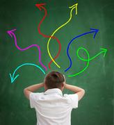 confusion in the school system - stock photo