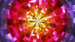 Twinkling Hi-Tech Grunge Flame Tunnel, Multi Color, Abstract, Loopable, HD Arkistovideo