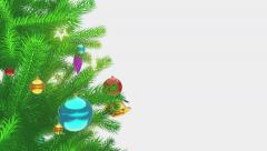 Shiny baubles on the christmas tree close-up 4K - stock footage