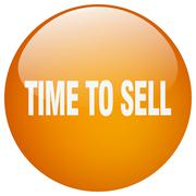 Stock Illustration of time to sell orange round gel isolated push button