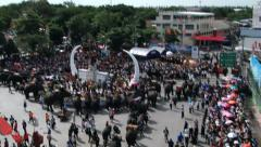 Central square of the Surin city during the Elephant festival in Suri, Thailand. Stock Footage