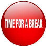 time for a break red round gel isolated push button - stock illustration