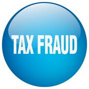 Tax fraud blue round gel isolated push button Stock Illustration