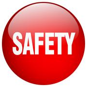 Stock Illustration of safety red round gel isolated push button