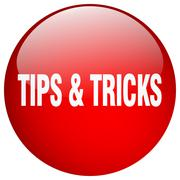 Tips & tricks red round gel isolated push button Piirros