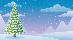 Winter Landscape 2 Stock Footage