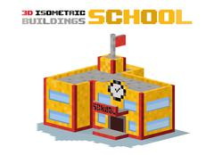 School building vector illustration - stock illustration