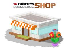 Shop market building vector illustration Piirros