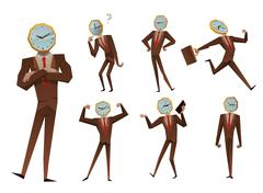 Businessman watch head vector illustration - stock illustration