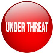 Stock Illustration of under threat red round gel isolated push button
