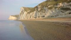 Jurassic Coast: Along Beach Stock Footage