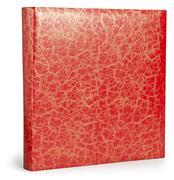 Decorative red photo album with patina cracks texture Stock Photos