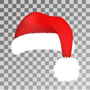 Santa Claus red hat vector isolated - stock illustration