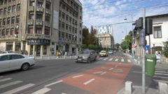 Crossroad between Victory Avenue and General Gheorghe Manu Street in Bucharest Stock Footage