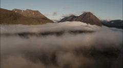 Aerial shot over Rannoch moor in Scotland Stock Footage