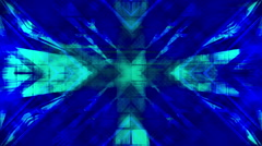 Blue Geometric Madness VJ Loop Stock Footage