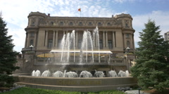 The Palace of the National Military Circle in Bucharest Stock Footage