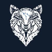 Stock Illustration of Wild wolf tattoo