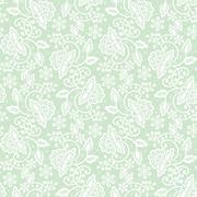 Seamless green lace Stock Illustration
