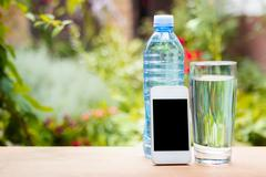 more water during hot weather - stock photo