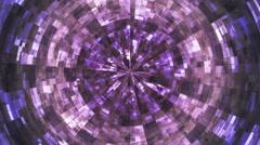 Twinkling Hi-Tech Grunge Flame Tunnel 39 - stock footage