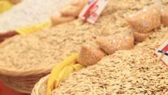 Stock Video Footage of Pumpkin seeds on the marketplace