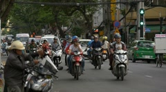 HO CHI MINH / SAIGON, VIETNAM - 2015: Slow motion Vietnamese people streets - stock footage