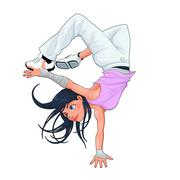 Stock Illustration of Funny breakdancer.