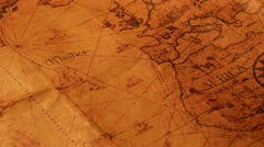 Vintage Old Map - stock footage