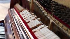 View of a Piano  Stock Footage