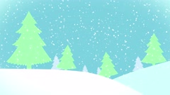 Snowscape christmas winter background animation Stock Footage