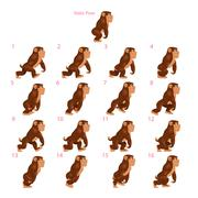 Stock Illustration of Animation of gorilla walking.