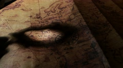 Vintage Old Map Stock Footage