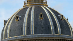 A dome roof in the city of Paris France - stock footage