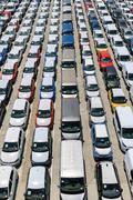 New automobiles - stock photo