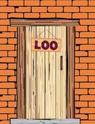 Outside Loo Door Stock Illustration
