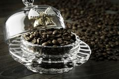 coffee beans in bulk - stock photo