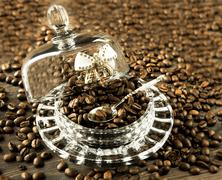 Stock Photo of coffee beans in bulk