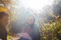 Autumn Backlight Portrait - stock photo