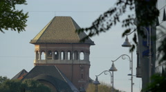 Stock Video Footage of View of the National Geology Museum tower in Bucharest
